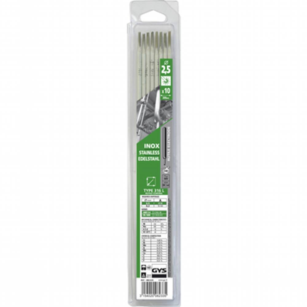 GYS Stainless Rods 2.5mm (Packet of 10)