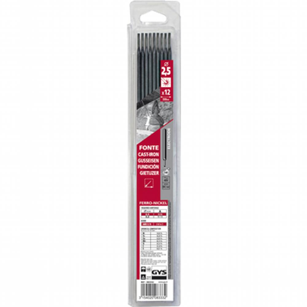 GYS Cast Iron Rods 2.5mm (Packet of 12)