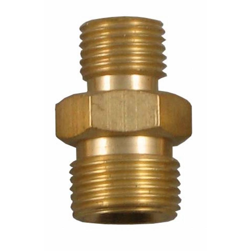 """Brass Coupler RH 1/4"""" - 3/8"""""""
