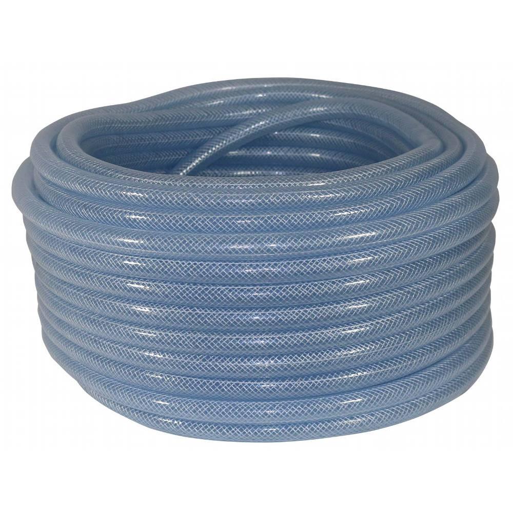 "Argon Hose Clear Nylon Braided 1/4"" (6mm) (per Metre)"