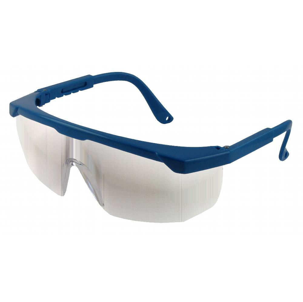 Safety Specs Clear (Blue Frame)