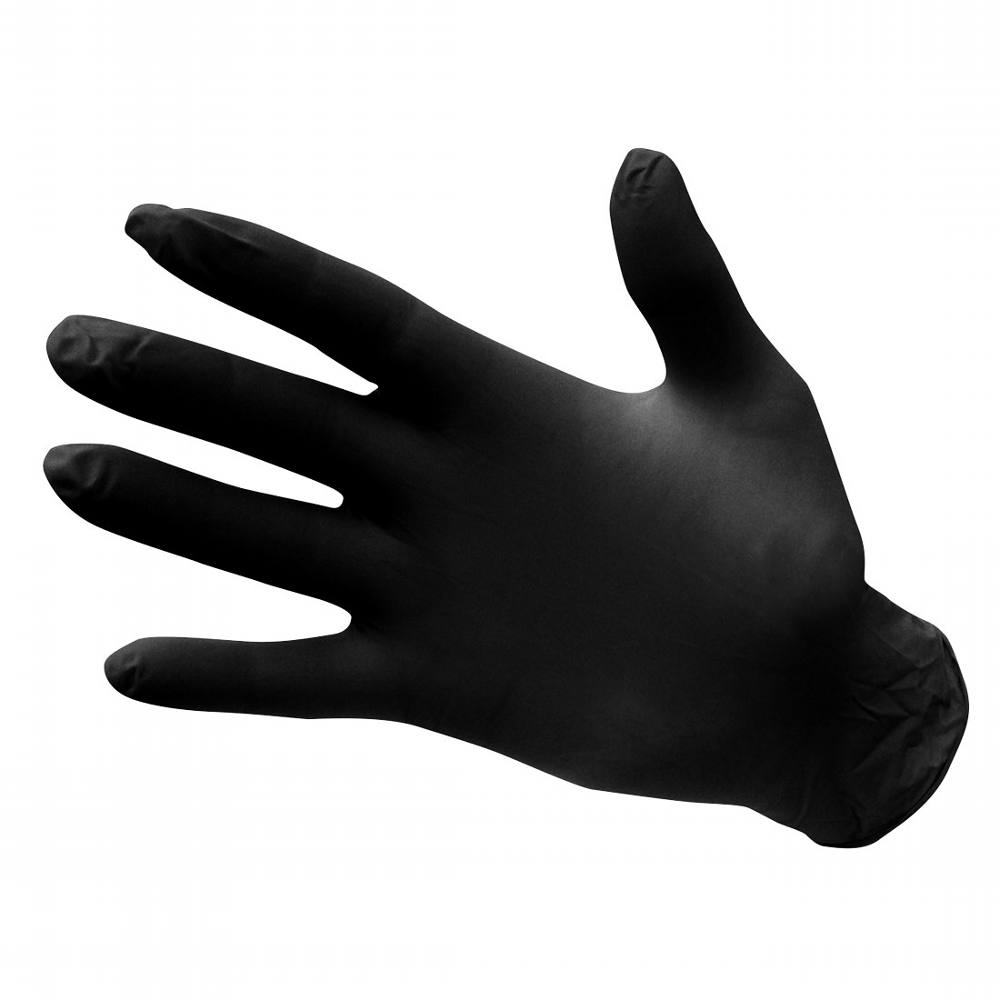 Gloves Disposable Black Nitrile Large