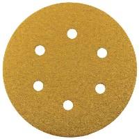 Gold Hook & Loop Sanding Discs 150mm 80 Grit