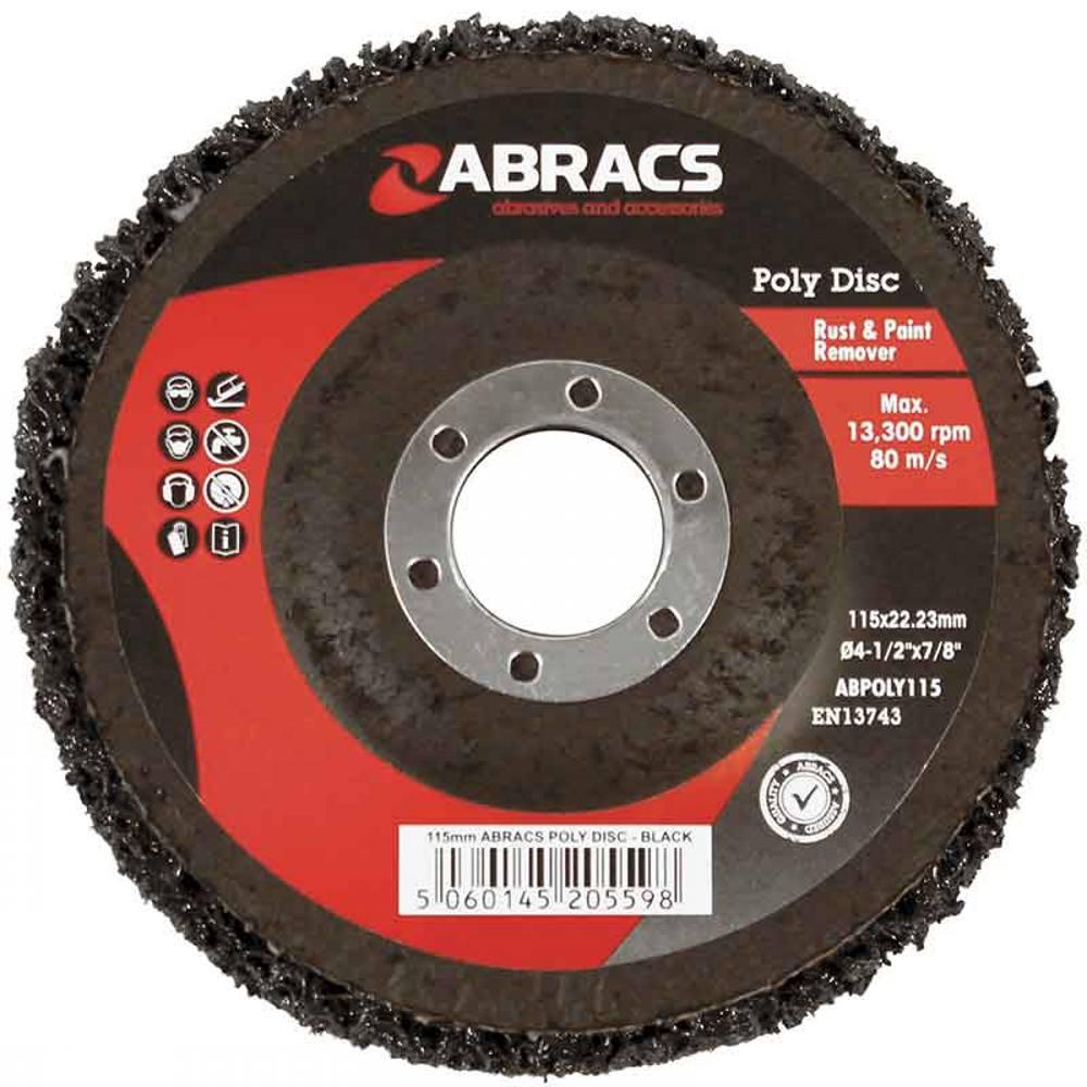 Black Poly Disc 125mm