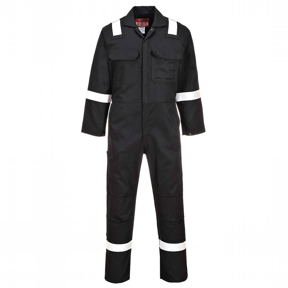 Coverall Bizweld Proban Reflective Navy Tall (42-44) Large