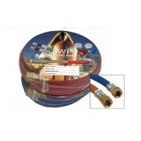 """Fitted Hose Oxygen 1/4"""" x 20m c/w 3/8"""" Fittings"""