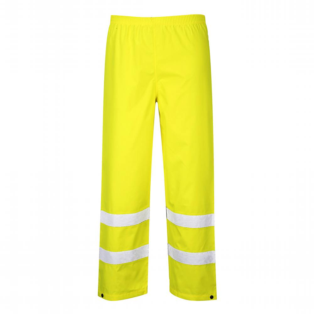 Hi-Viz Traffic Trousers - Small - Yellow - Portwest